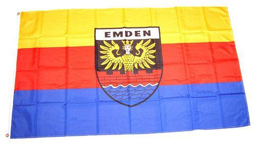 Flagge / Fahne Emden Hissflagge 90 x 150 cm