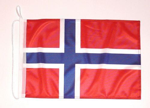 Bootsflagge Norwegen 30 x 45 cm