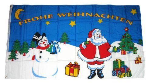 Fahne / Flagge Weihnachten Schneemann 90 x 150 cm