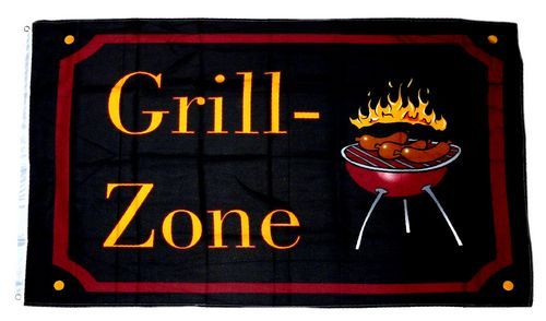 Fahne Grillfahne Grill Party Hissflagge 60 x 90 cm Flagge