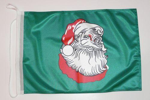 Bootsflagge Weihnachtsmann 30 x 45 cm