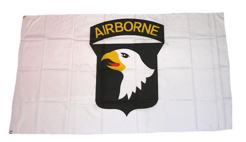 Fahne / Flagge 101st Airborne USA weiß 90 x 150 cm