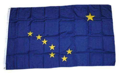 Fahne / Flagge USA - Alaska 90 x 150 cm