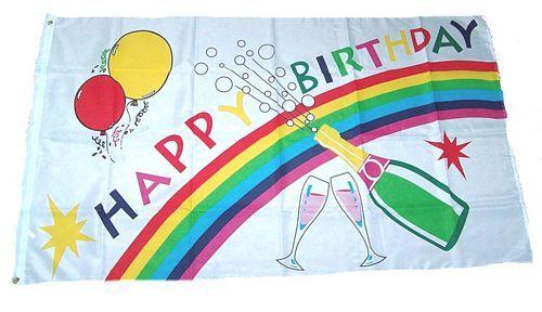 Fahne / Flagge Happy Birthday 150 x 250 cm