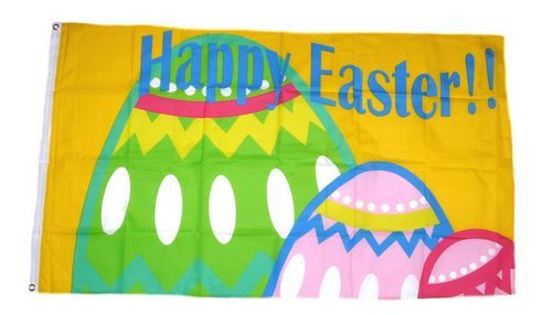Fahne / Flagge Happy Easter Ostern 90 x 150 cm