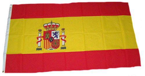 Flagge / Fahne Spanien Wappen Hissflagge 90 x 150 cm