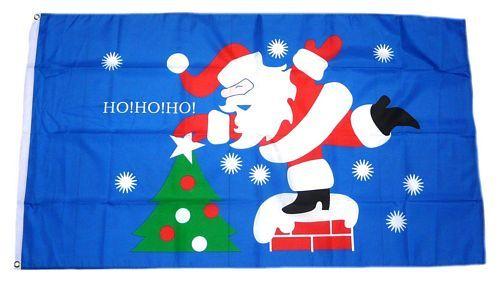 Fahne / Flagge Weihnachtsmann Ho Ho Ho 90 x 150 cm