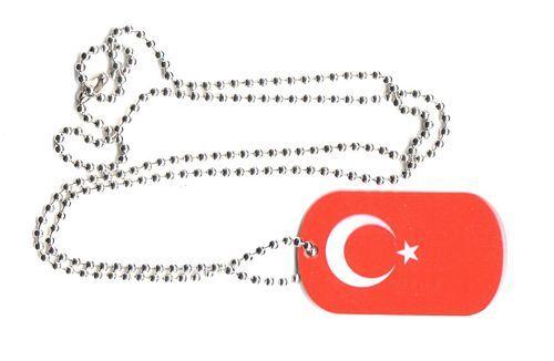 Dog Tag Fahne Türkei