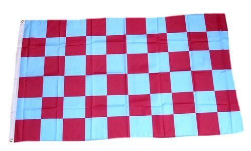 Fahne / Flagge Karo blau / rot 90 x 150 cm