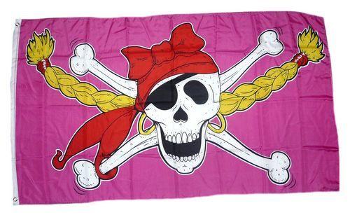 Fahne / Flagge Pirate Princess Pirat 90 x 150 cm
