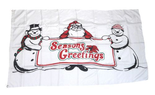 Fahne / Flagge Weihnachten Seasons Greetings 90 x 150 cm