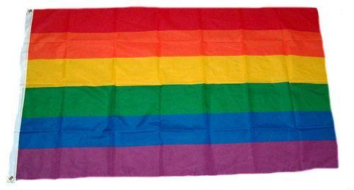 Fahne / Flagge Regenbogen 150 x 250 cm