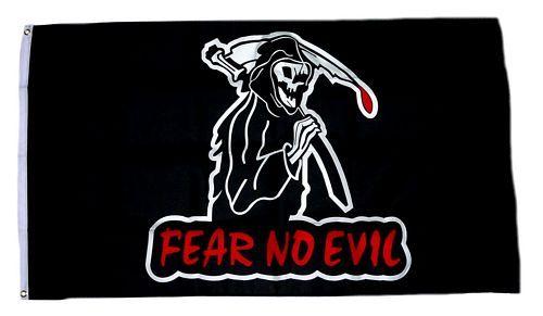 Fahne / Flagge Sensenmann Fear no Evil 90 x 150 cm