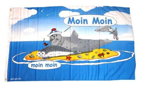 Fahne / Flagge Moin Moin Sandbank 90 x 150 cm