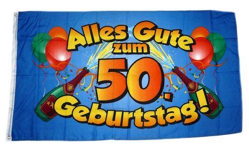 Fahne / Flagge Alles Gute zum 50. Geburtstag 90 x 150 cm