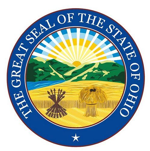 Fahnen Aufkleber Sticker Siegel USA - Ohio