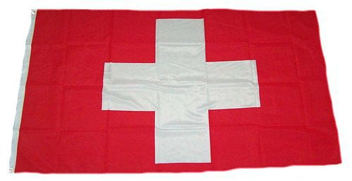 Flagge / Fahne Schweiz Hissflagge 90 x 150 cm