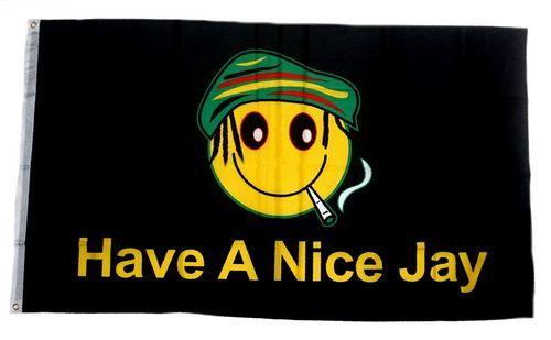 Fahne / Flagge Have a Nice Jay Marijuana 90 x 150 cm