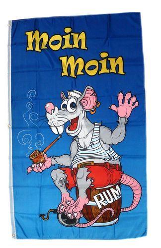 Fahne / Flagge Moin Moin Ratte NEU 90 x 150 cm