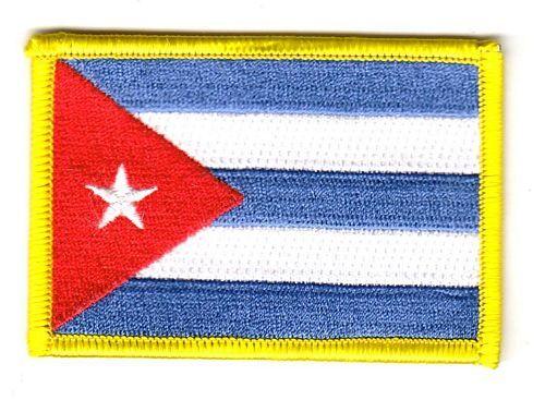 Wappen Aufnäher Kuba Patch Flagge Fahne