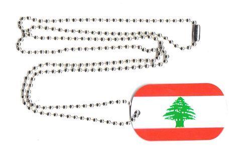 Dog Tag Fahne Libanon