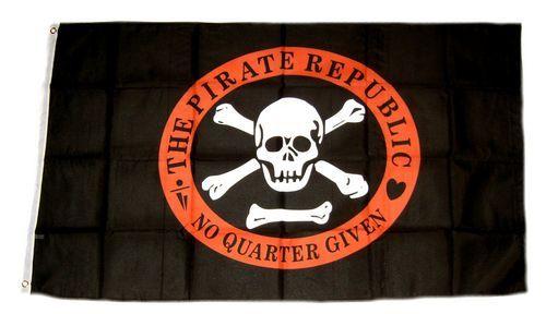 Fahne / Flagge Pirat Republik 90 x 150 cm