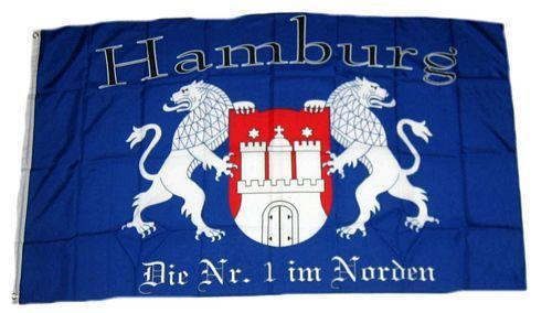 Fahne / Flagge Fußball Hamburg 150 x 250 cm