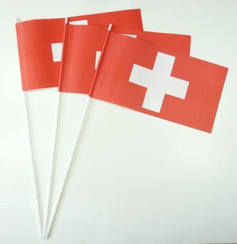 10 Papierfähnchen Schweiz Papierfahnen Fahne Flagge