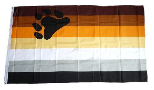 Fahne / Flagge Gay Pride Bear 90 x 150 cm