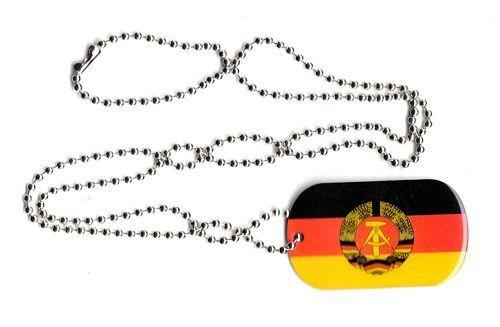 Dog Tag Fahne DDR