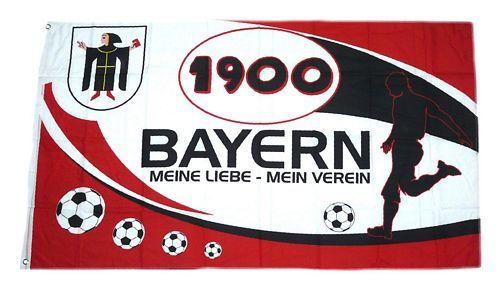 Fahne / Flagge Bayern 1900 Mein Verein 90 x 150 cm