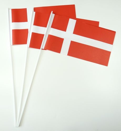 10 Papierfähnchen Dänemark Papierfahnen Fahne Flagge