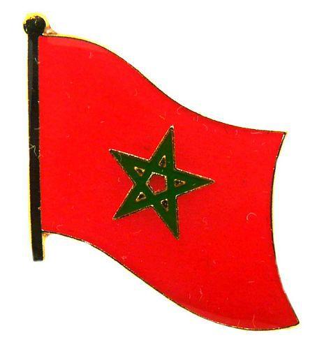 Fahnen Pin Marokko Flagge Fahne Anstecknadel