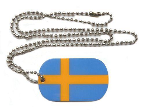 Dog Tag Fahne Schweden
