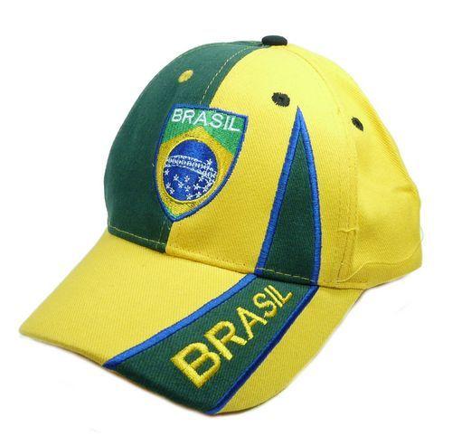 Basecap Brasilien gelb