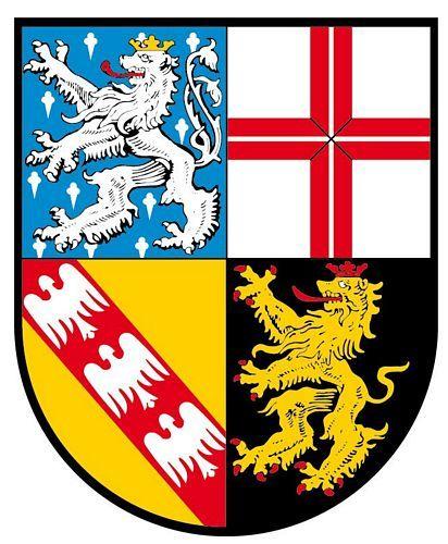 Wappenschild Aufkleber Sticker Saarland