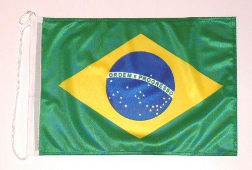 Bootsflagge Brasilien 30 x 45 cm