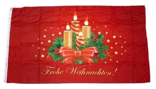 Fahne / Flagge Frohe Weihnachten Advent 90 x 150 cm