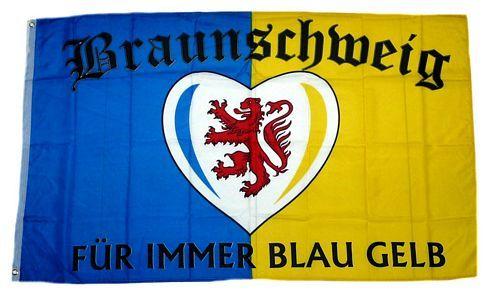 Fahne / Flagge Braunschweig Für immer Fan 90 x 150 cm