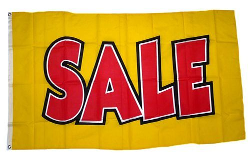 Fahne / Flagge SALE gelb 90 x 150 cm