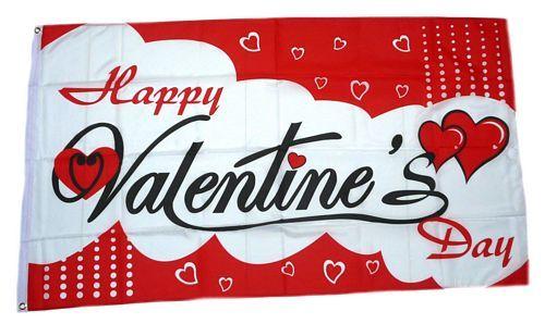 Fahne / Flagge Happy Valentine´s Day Valentinstag 90 x 150 cm