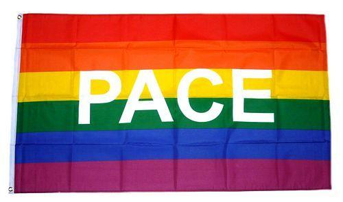 Fahne / Flagge Regenbogen - Pace 60 x 90 cm