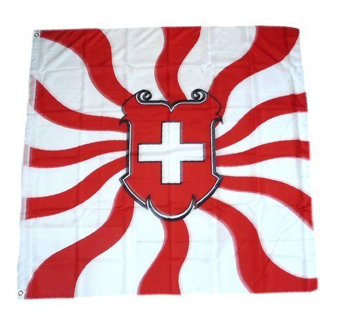 Fahne / Flagge Schweiz Wappen Schild 120 x 120 cm