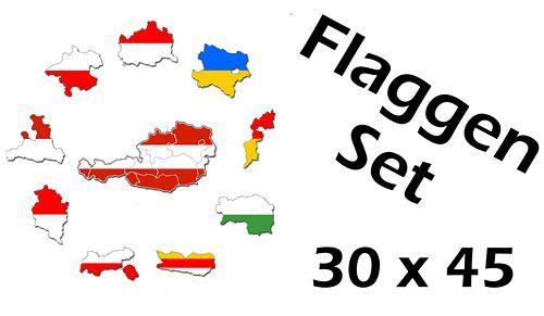 Flaggenset Österreich Bundesländer 30 x 45 cm