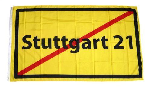 Fahne / Flagge Stop Stuttgart 21 90 x 150 cm