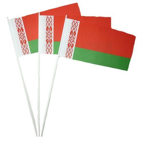 Papierfahnen Weißrussland
