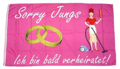Fahne / Flagge Junggesellinenabscheid Hochzeit 90 x 150 cm