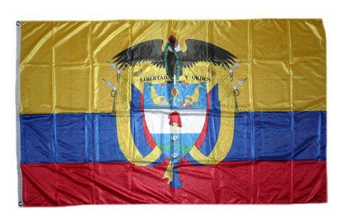 Flagge / Fahne Kolumbien Wappen Hissflagge 90 x 150 cm