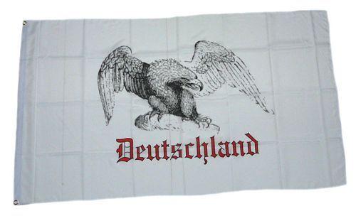 Fahne / Flagge Deutschland Adler weiß 90 x 150 cm