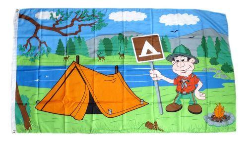 Fahne / Flagge Camping 90 x 150 cm